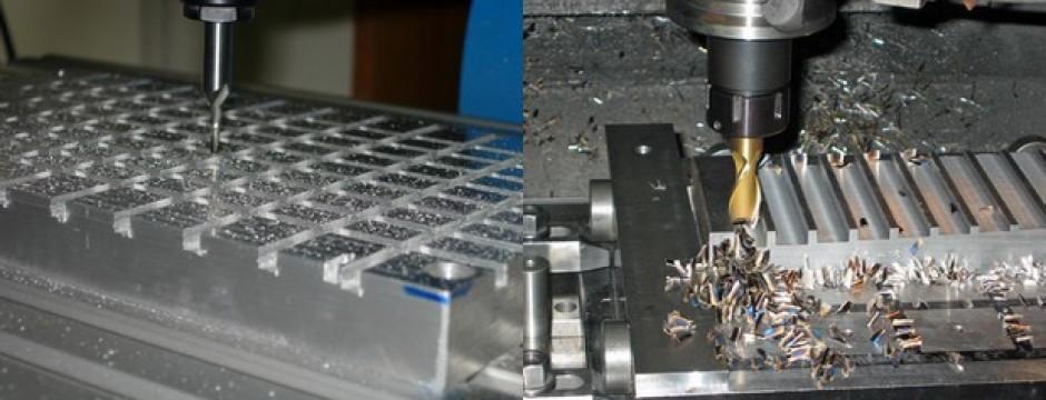 Frese lavorano alluminio